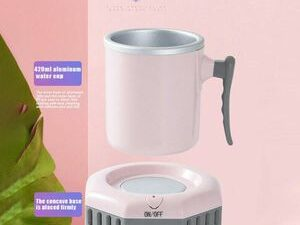 Portable Quick Electric Beverage Cup Cooler Ice Making For Milk Pink