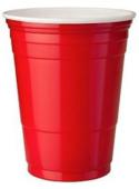 Disposable Plastic Cup 500 ml  Red x10