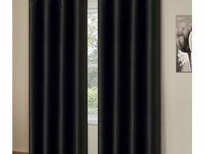 High Quality Curtains With Rings  BLACK