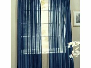 75 By 75 Quality Sheer Curtain  NAVY BLUE