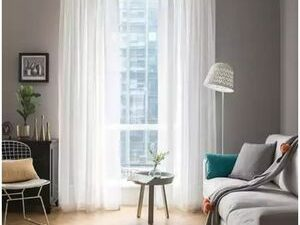 75 By 75 Quality  Sheer Curtain White