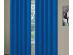 High Quality Curtains With Rings  BLUE