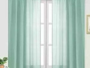75 By 75 Quality Sheer Curtain  GREEN