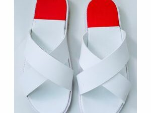 Classic Red White Cross Slippers