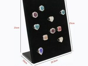 Classic Velvet 50 Ring Display Holder Stand Rack For Display Storage And Organising Accessories