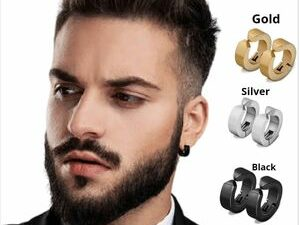 Luxurious 3 Pair6 Pieces Painless Non Piercingmagnetic MenWomen Round Hoop Stainless Steel Earring