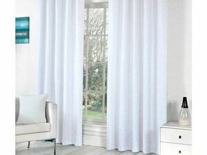 High Quality Curtains With Rings  WHITE