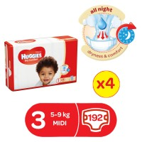 HUGGIES DRYCOMFORT DIAPERS SIZE 3 48 x 4 192 diapers