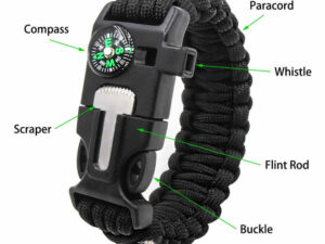 Self Protect wristband with compass